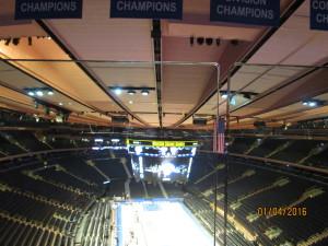 Madison Square Garden (das Basketball Feld wurde gerade aufgebaut)